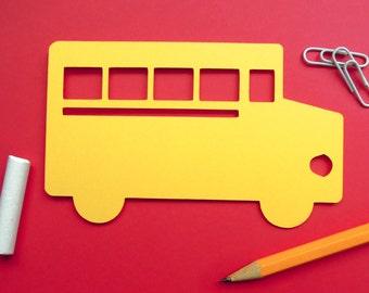 School Bus Die Cut, 30pcs