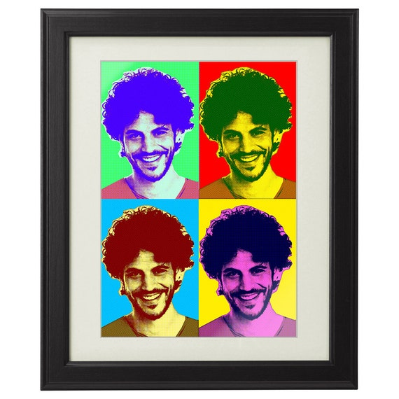 Personalised Print - Framed Picture – With Your Photo - Pop Art Style