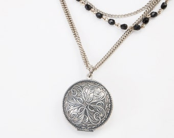 Long Multi Stranded Vintage Locket