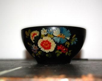 Sale! Vintage Hand-Painted Floral Bowl