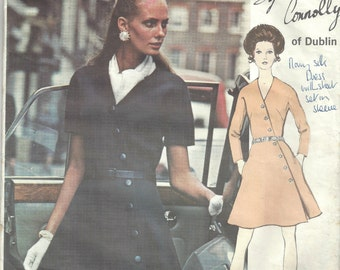 1960s Vintage VOGUE Sewing Pattern B38 DRESS (1556) By SYBIL Connolly of Dublin Vogue 2324