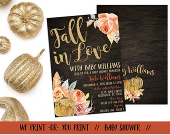 fall in love baby shower invitation fall baby shower fall in love