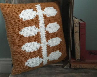Folk Art style Crochet Cushion