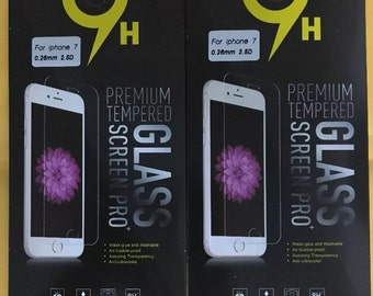 Tempered glass screen protector iPhone 7/6/6s bubble free (2 pack)