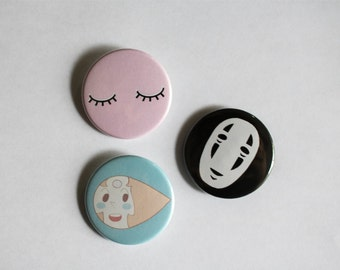 Anime Pin Back Buttons