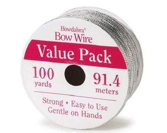 Bowdabra Bow Wire, 100 Yards, Silver