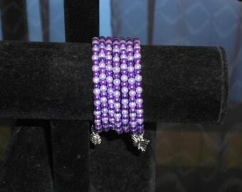 Memory bracelet purple and Mauve