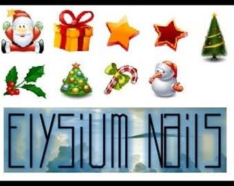 Christmas Decal - Set of 9 (1)
