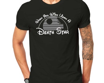 Inspired By StarWars Death Star  Mashup T Shirt Black ScreenPrinted Design All Sizes