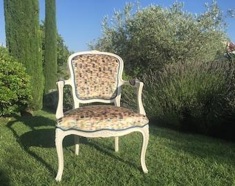 Convertible Louis xv armchair