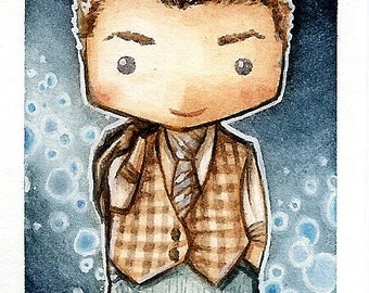Illustration print Glee Will Schuester CHIBI