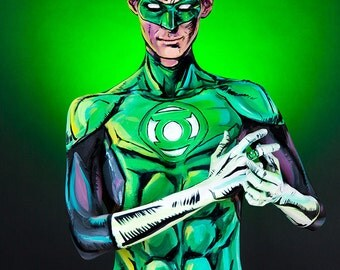 Green Lantern Bodypaint 8.5x11 Print