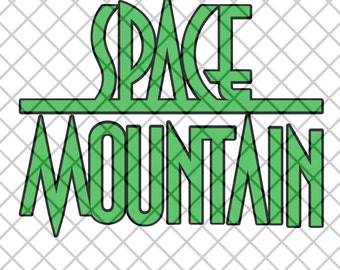 Space Mountain Title - SVG