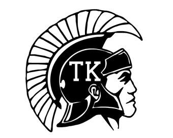 TK Trojans Trojan Head Decal