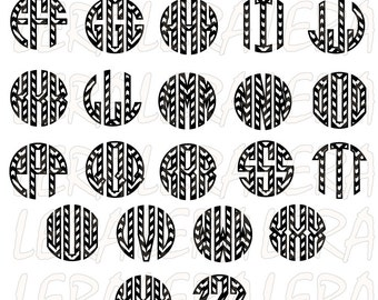 60 % OFF, Chevron Monogram Circle Letters, Monogram Alphabet SVG, Three Letters Monogram, Circle Monogram svg, eps, dxf, ai, Chevron  Font