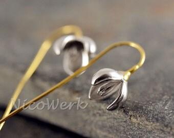 Silver earrings flower ladies jewelry earrings ear jewelry 925 gift 296