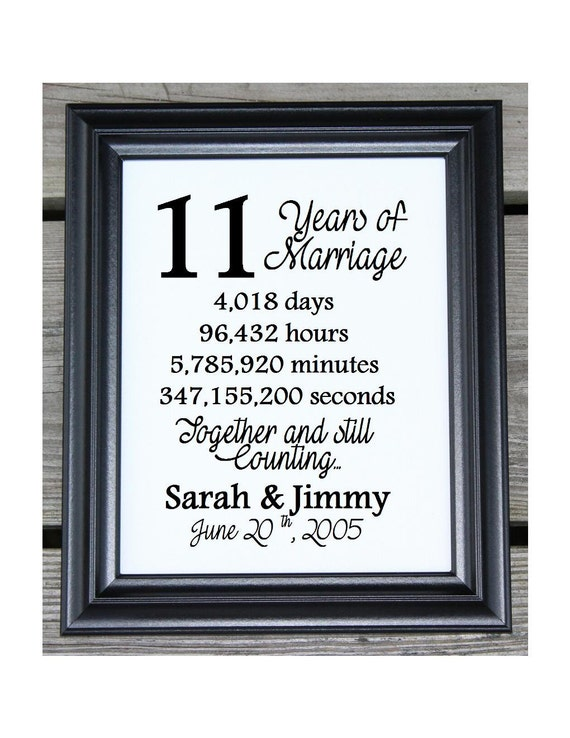 11th wedding anniversary cotton print 11th wedding gift 11 for 11th wedding anniversary gift