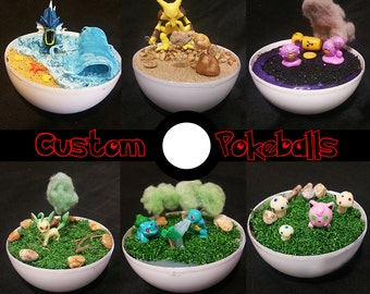 Custom Made Pokeball Terrarium (Please DO NOT purchase listing)