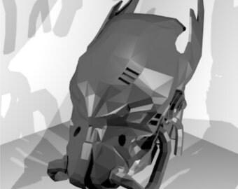 DIY helmet Fallot Enclave, pattern for paprcraft, printable mask, build your own helmet