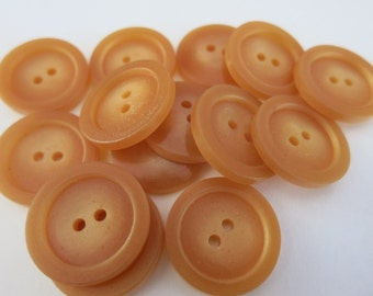15 Brown Buttons 19mm 2 Hole A80