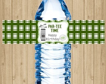 Water Bottle Label - Golf Water Bottle Label - Golf - Sports Water Bottle Label - Self Stick Labels
