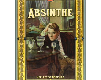 """Wall Calendar 2017 (12 pages 8""""x11""""/A4) Absinthe Alcohol Ads Vintage Advert Poster M486"""