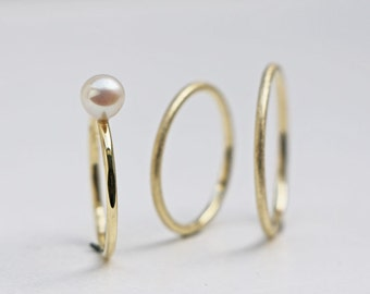 RingSET in Gold & Perle