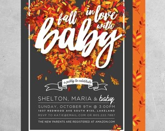 Fall In Love With Baby - Baby Shower Invite