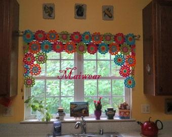Crochet Curtain Window Valance