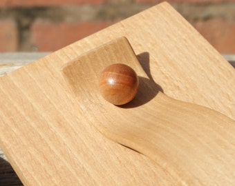 Beechwood Box - Wooden Tea box - Salt Box - Steam Bent Handle - Quarter Cut Beech Throughout - Hand Made in Wales from Local wood