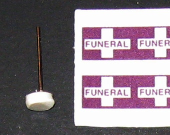 scale model hearse funeral procession flags