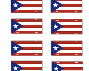 scale model car Puerto Rico flag license tag plates