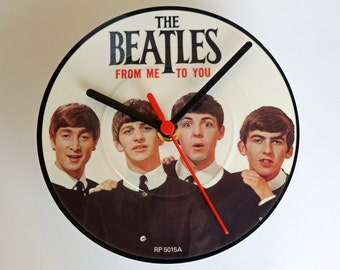 Unique Beatles Record Clock Related Items Etsy
