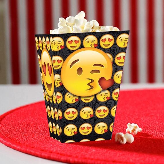 Kissy Face Emoji Printable Popcorn Box