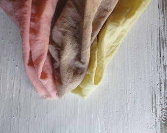 SEMI-LIGHT LINEN: herbal dyed linen in different colors _ vegan, organic (190 g)