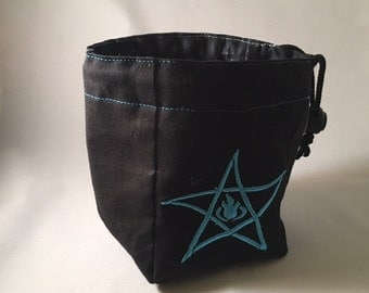 Elder Sign Star - Embroidered  Drawstring Bag