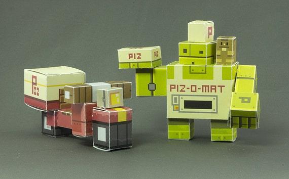 Piz-O papercraft set