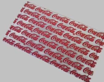 Checkbook Cover, Coca-Cola Checkbook Cover, Fabric Checkbook Cover
