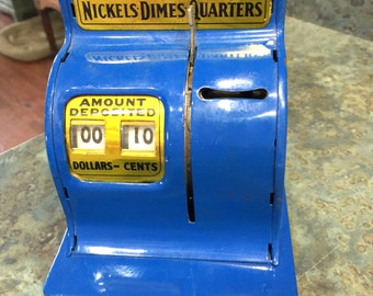 Uncle Sam's 3 Coin and Paper Money Register Bank 1970 Era