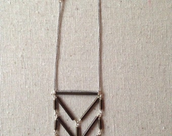 Triple Stack Wide Necklace in Sterling Silver