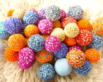Set of three balls Grab bag felted wool ball Waldorf toys party favors ready to ship