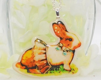 Dutch Bunny Pendant Rabbit Pendant Bonnie - Bunny Jewelry - Rabbit Necklace - Bunny Rabbit Inspired
