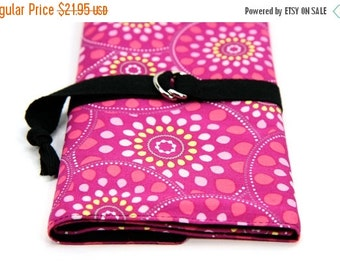 Sale 25% OFF SHORT Knitting Needle Organizer Case - Sugar - 24 black pockets for circular, double pointed, interchangeable or travel
