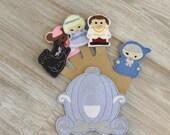 Cinderella Inspired Finger Puppet Set