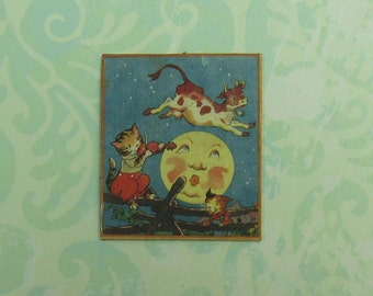 Dollhouse Miniature Cat and the Fiddle Wall Plaque