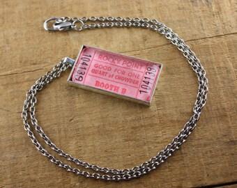 Rocky Point Park Ticket Necklace - Quart of Chowder