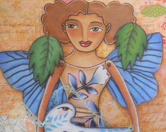 Hand drawn Printable Butterfly Fairy Paper Doll