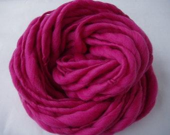Handspun merino yarn, giant knit yarn, JUMBO IV, extra soft merino, super bulky, thick and thin yarn, giant yarn, pink yarn, 3.5oz/25yds
