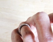 fair warning rings, signature style - hand stamped bands with a nod to pulp fiction for men and women - not for the timid