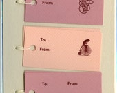Letterpress Gift Tags, Berry Tones
